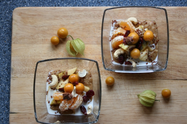 Oatmeal - Chocolate Pumpkin Orange mit Cashew & Physalis