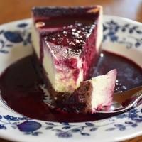 Gestrudelter Holunderbeeren Cheesecake