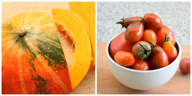 Hokkaidokürbis und Tomaten für Kürbis-Grießnockerl mit Topfen auf Tomatenragout von AngiProstMahlzeit